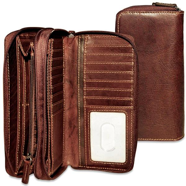 Voyager Double Zippered Clutch Wallet #7714