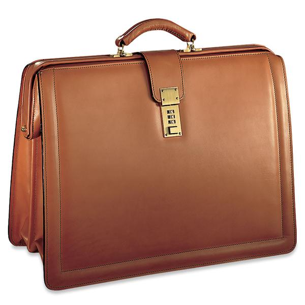 Belting Leather Classic Combination Lock Briefbag #9005